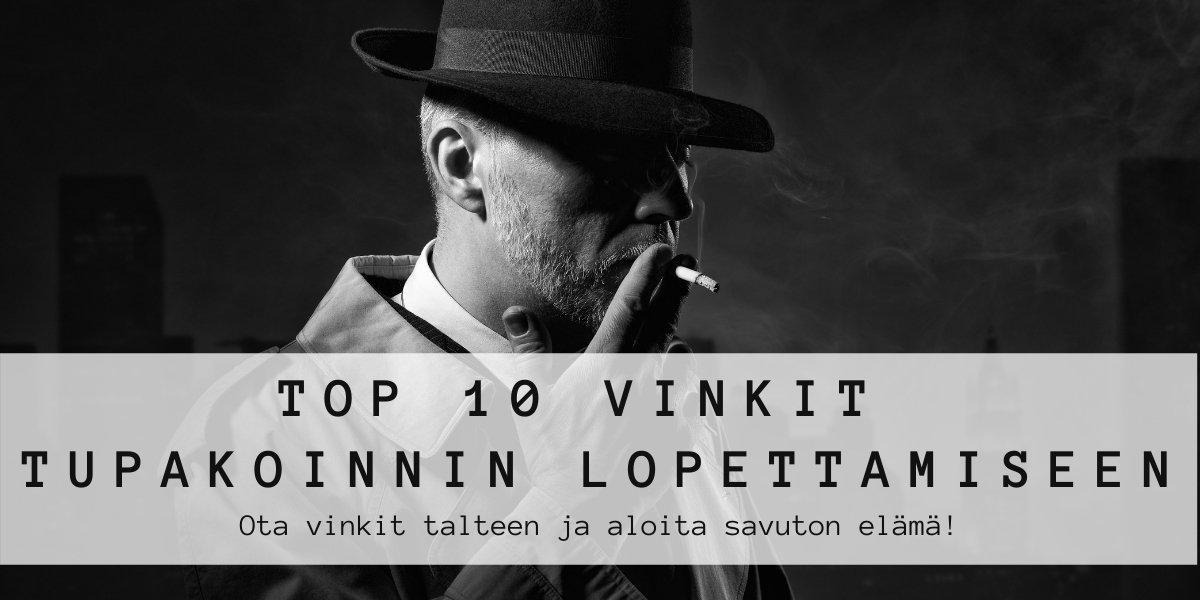 top 10 vinkit tupakoinnin lopettamiseen