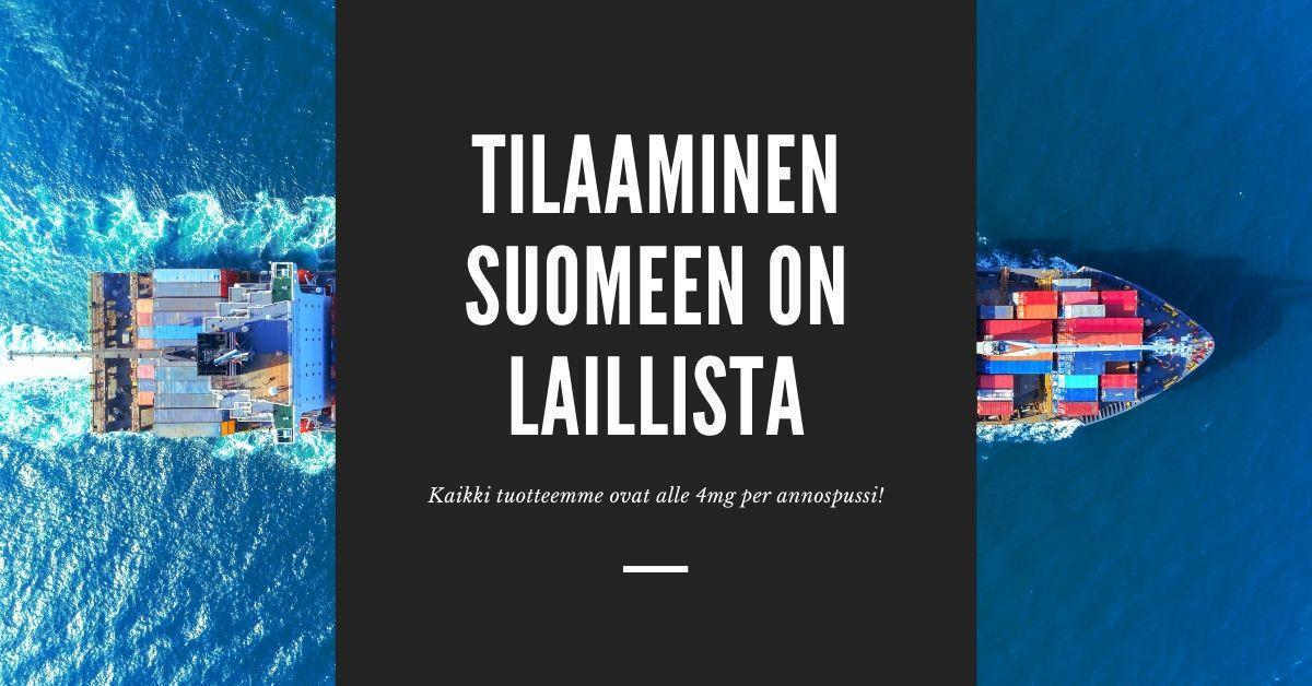 Nikotiinipussit Suomeen